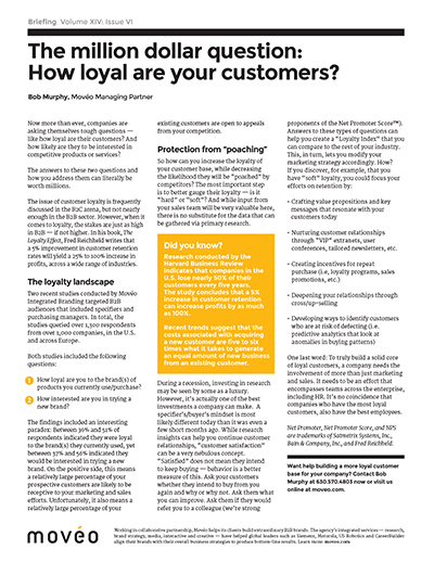 the million dollar question how loyal are your customers movo